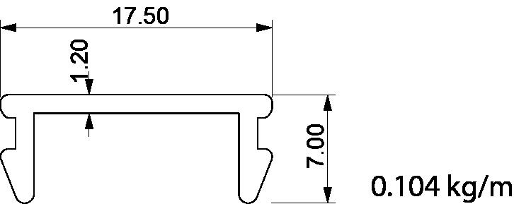 mıknatıs ray altı profil