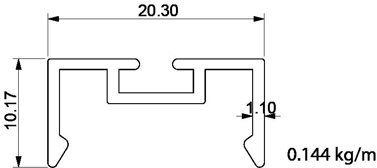 mıknatıs ray profil