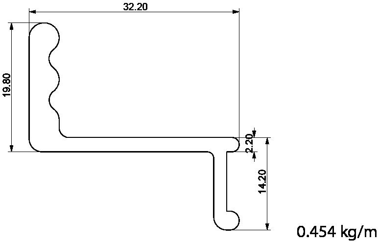 pvc sürme ray profili